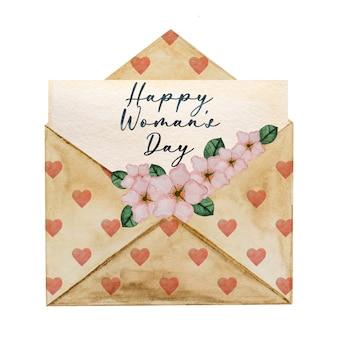 밝은 꽃의 아름다운 수채화 그리기. 근접 촬영, 사람 없음. 사랑하는 사람, 친척, 친구 및 동료를 축하합니다