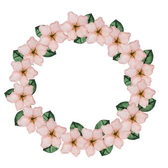 밝은 꽃의 아름다운 수채화 그리기.