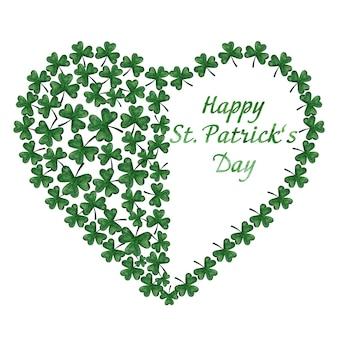 Красивый акварельный рисунок яркого, зеленого клевера. крупный план, людей нет, фактура. поздравления для близких, родных, друзей и коллег