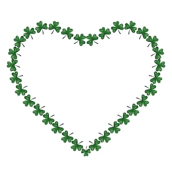 Красивый акварельный рисунок яркого, зеленого клевера