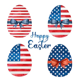 부활절 달걀의 아름다운 수채화 그리기. 근접 촬영, 아니 사람, 질감. 사랑하는 사람, 친척, 친구 및 동료를 축하합니다