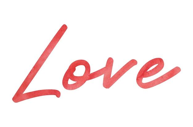 Beautiful watercolor love word