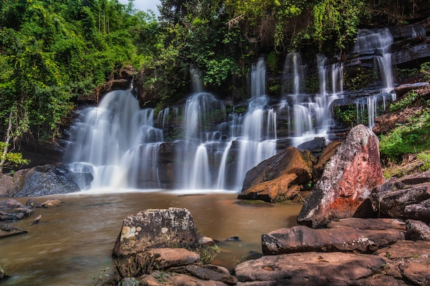 Beautiful waterfall in thailand.