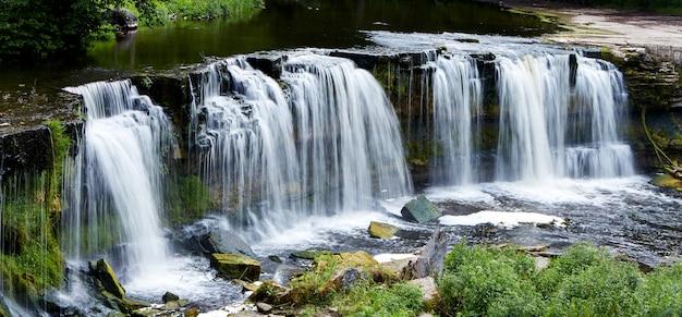 Красивые водопады в кейла-йоа, эстония