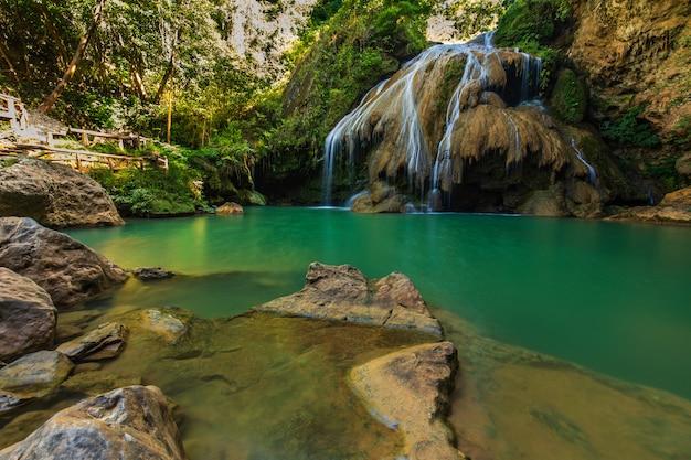 Beautiful waterwall in mae ping national park  lamphun  province, thailand.