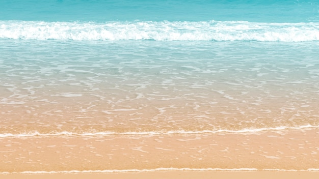 Beautiful wave on the beach background