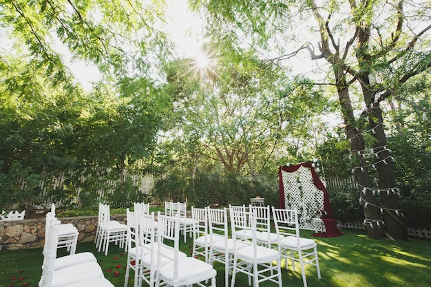 공원에서 아름다운 결혼식