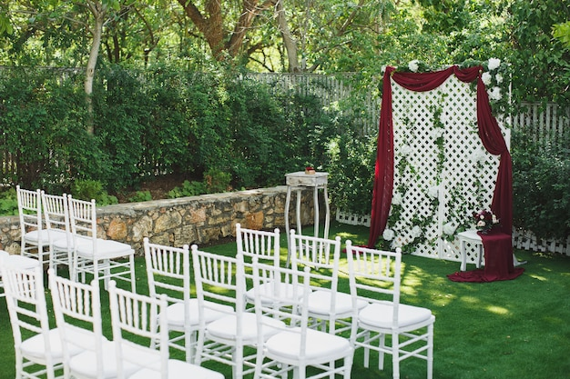 Beautiful wedding ceremony in the park
