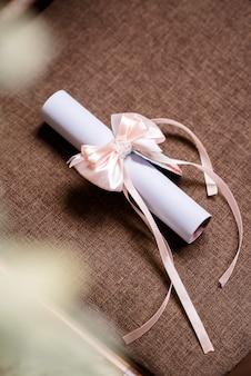 아름다운 웨딩 장식과 꽃의 아치. 세련된 결혼식.