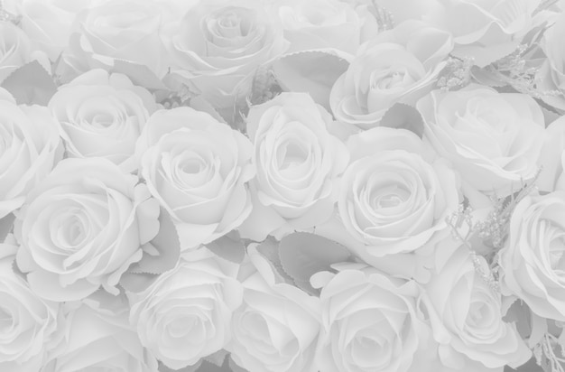 Beautiful white decoration artificial fabric rose flower background