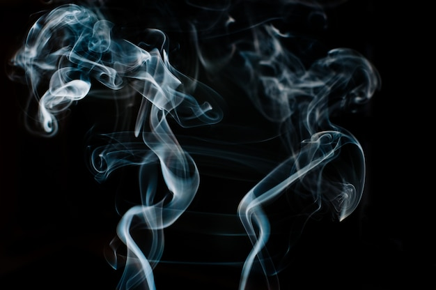 Beautiful white smoke, motion blur