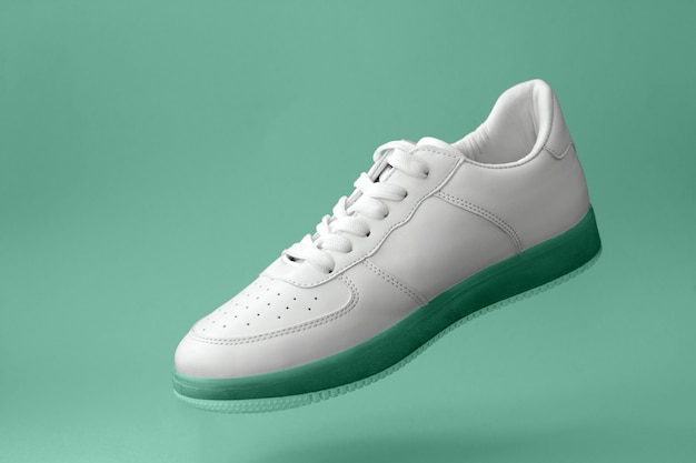 Beautiful white sports sneaker