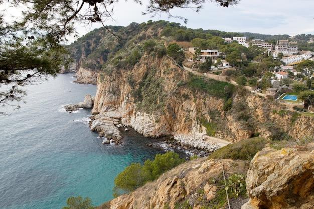 Beautiful wild coastline of spain