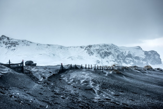 Beautiful winter landscape in iceland