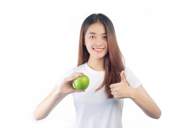 행복 한 미소와 아름 다운 여자 아시아