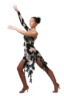 Beautiful woman dancin latin dance