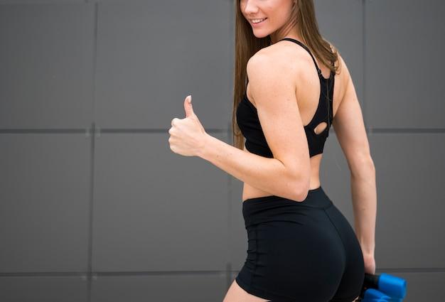 Beautiful woman enjoying the sport