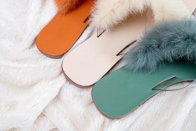 Beautiful woman fashion shoes