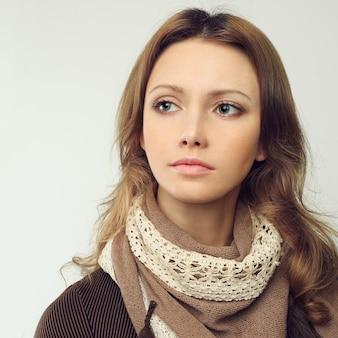 Красивая женщина - женское лицо