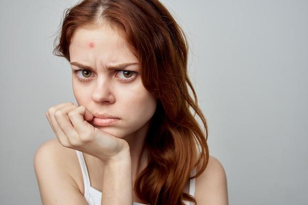 Beautiful woman hygiene treatment cosmetology studio