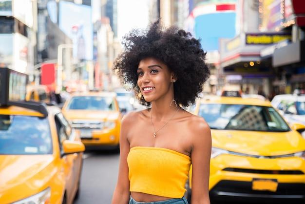 뉴욕에서 아름 다운 여자