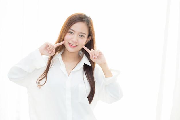 Beautiful woman makeup of cosmetic