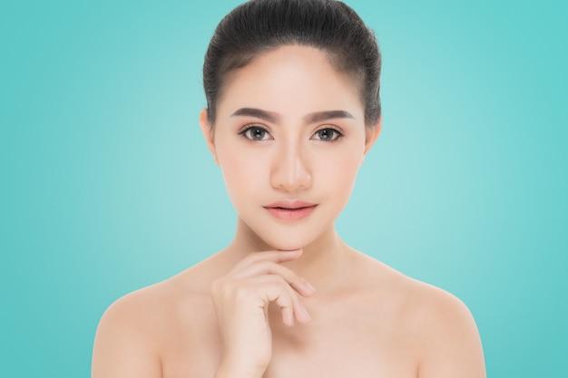Beautiful woman portrait, skin care or beauty concept
