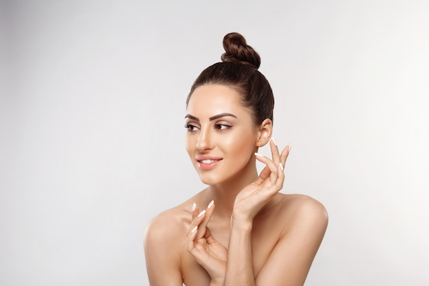 Beautiful woman portrait, skin care concept