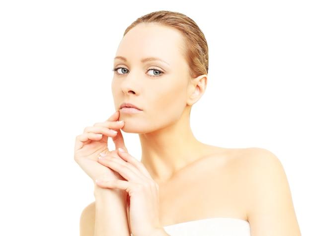 Beautiful woman, pure clean skin - spa