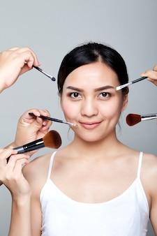 Beautiful woman skincare portrait