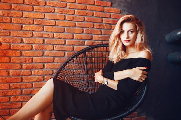 Beautiful woman in the studio