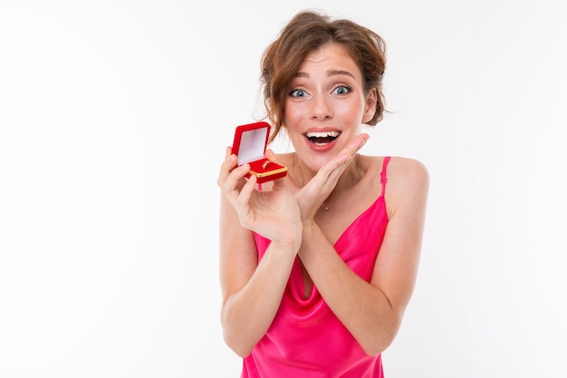Beautiful woman who made a wedding proposal