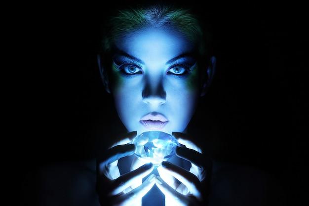 Beautiful woman with big jewel Free Photo