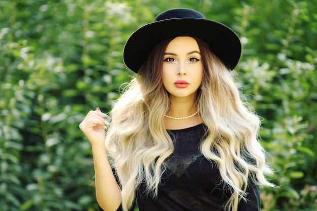 Beautiful woman with curly hair halloween costume
