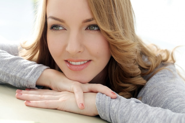 Beautiful woman with cute smile