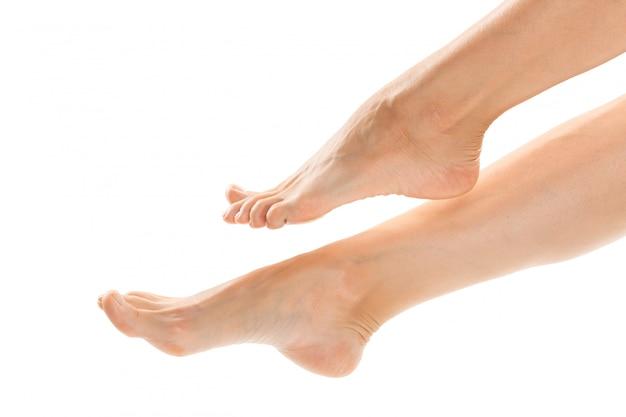 Beautiful women feet isolated
