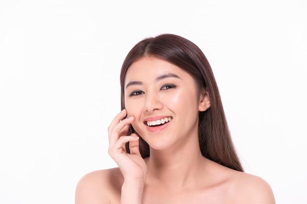 Beautiful women take care of skin health