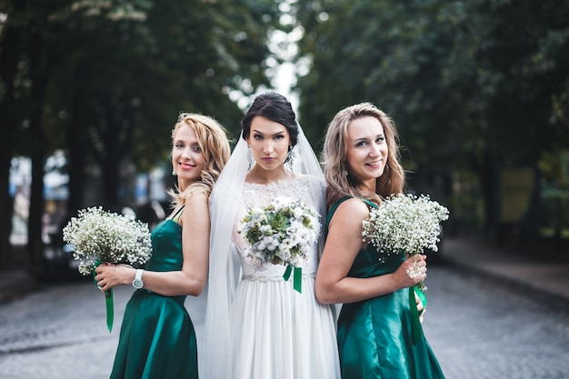 Beautiful women on wedding