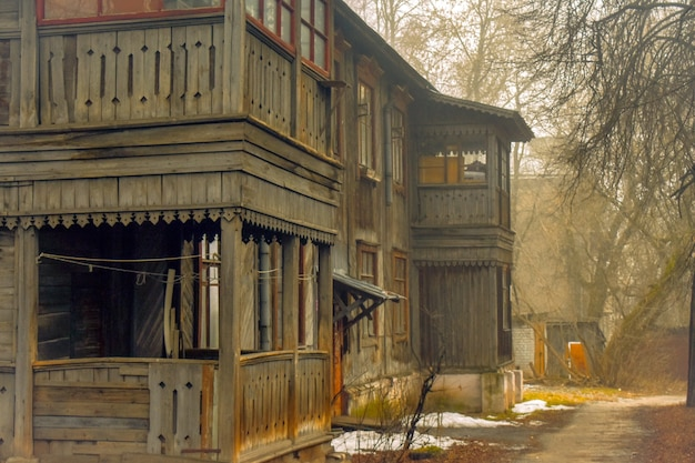 Beautiful wooden house. nizhny novgorod
