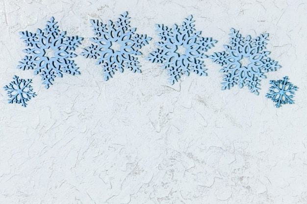 Beautiful wooden snowflakes for christmas or new year