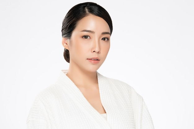 Beautiful young asian woman with clean fresh skin. face care, facial treatment,, beauty and cosmetics concept.