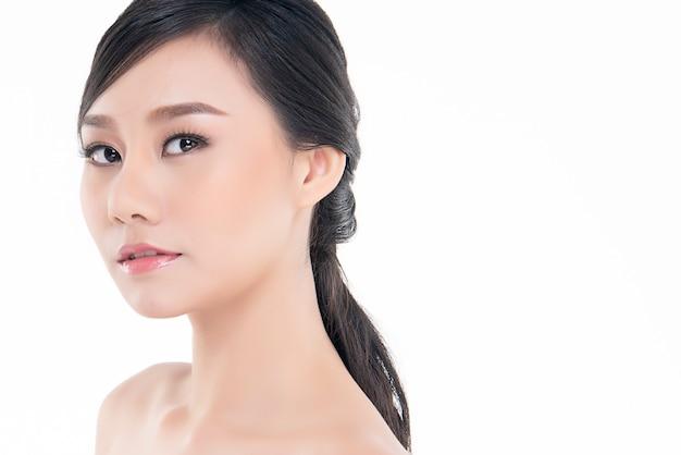 Beautiful young asian woman with clean fresh skin