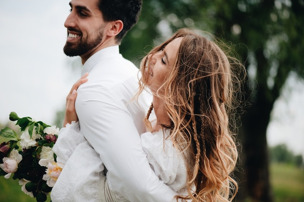 Beautiful young couple in love