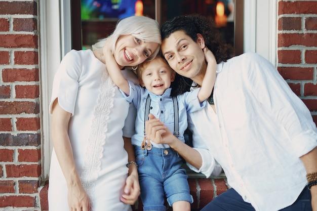 아름다운 젊은 가족