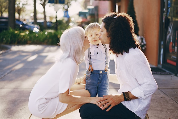 Beautiful young family