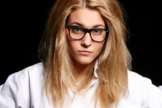Beautiful young woman looking