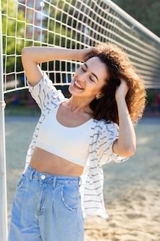 Beautiful young woman posing