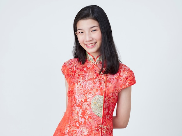 Beautiful young woman in traditional chinese dress