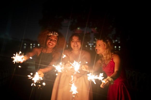 Beautiful young women in their graduation night