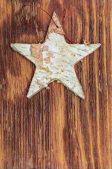 白beautifulの樹皮の美しい星。クリスマスの挨拶の準備ができて。